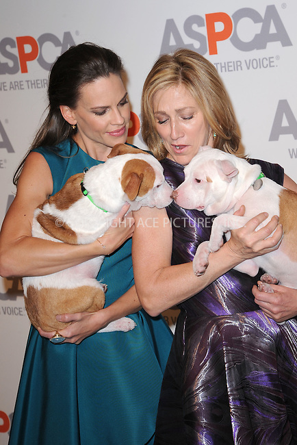 WWW.ACEPIXS.COM<br /> April 9, 2015 New York City<br /> <br />  Hilary Swank and Edie Falco attending the 18th Annual ASPCA Bergh Ball at the Plaza Hotel on April 9, 2015 in New York City.<br /> <br /> Please byline: Kristin Callahan/AcePictures<br /> <br /> ACEPIXS.COM<br /> <br /> Tel: (646) 769 0430<br /> e-mail: info@acepixs.com<br /> web: http://www.acepixs.com