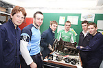 Sebastian Heise, Ryan Boyle, Chris Floody, Michael Hennessy, Richard Armstrong and Alan Demoulin working on the engine of the Porsche they are restoring at Drogheda Grammar...(Photo credit should read Jenny Matthews/www.newsfile.ie)....This Picture has been sent you under the conditions enclosed by:.Newsfile Ltd..The Studio,.Millmount Abbey,.Drogheda,.Co Meath..Ireland..Tel: +353(0)41-9871240.Fax: +353(0)41-9871260.GSM: +353(0)86-2500958.email: pictures@newsfile.ie.www.newsfile.ie.