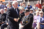 Paddy Brannigan lays a cross in memory of his uncle Private Daniel Black. Picture: www.newsfile.ie