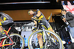 Sylvain Chavanel (FRA) Direct Energie team on stage at the Team Presentation in Burgplatz Dusseldorf before the 104th edition of the Tour de France 2017, Dusseldorf, Germany. 29th June 2017.<br /> Picture: Eoin Clarke | Cyclefile<br /> <br /> <br /> All photos usage must carry mandatory copyright credit (&copy; Cyclefile | Eoin Clarke)