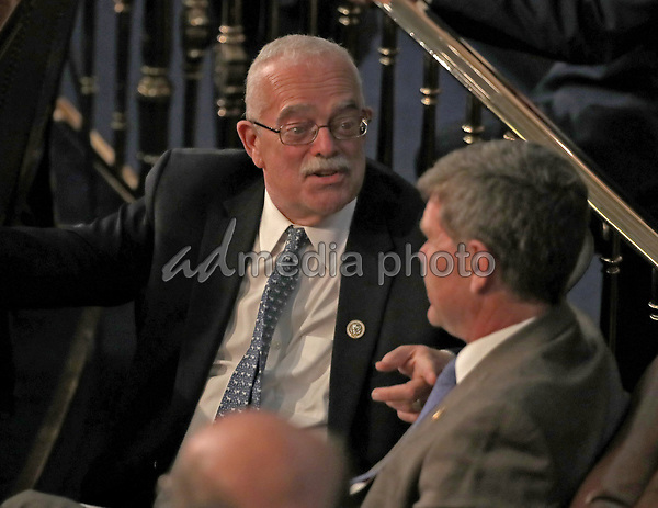 United States Representative Gerry Connolly (Democrat of Virginia) in conversation on the floor prior to US President Donald J. Trump delivering his second annual State of the Union Address to a joint session of the US Congress in the US Capitol in Washington, DC on Tuesday, February 5, 2019. Photo Credit: Alex Edelman/CNP/AdMedia