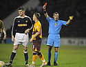 11/02/2008    Copyright Pic: James Stewart.File Name : sct_jspa20_motherwell_v_dundee.GARY MCKENZIE IS SENT OFF.James Stewart Photo Agency 19 Carronlea Drive, Falkirk. FK2 8DN      Vat Reg No. 607 6932 25.Studio      : +44 (0)1324 611191 .Mobile      : +44 (0)7721 416997.E-mail  :  jim@jspa.co.uk.If you require further information then contact Jim Stewart on any of the numbers above........