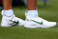 The trainers of Victoria Azarenka (BLR)<br /> <br /> Photographer Rob Newell/CameraSport<br /> <br /> Wimbledon Lawn Tennis Championships - Day 3 - Wednesday 4th July 2018 -  All England Lawn Tennis and Croquet Club - Wimbledon - London - England<br /> <br /> World Copyright &not;&uml;&not;&copy; 2017 CameraSport. All rights reserved. 43 Linden Ave. Countesthorpe. Leicester. England. LE8 5PG - Tel: +44 (0) 116 277 4147 - admin@camerasport.com - www.camerasport.com