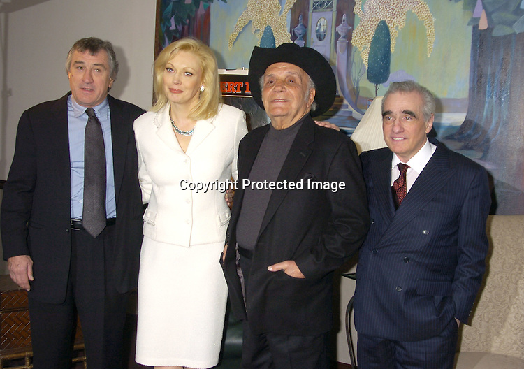 "Robert De Niro, Cathy Moriarity, Jake LaMotta and Martin Scorsese..at The Special 25th  Anniversary Premiere in New York City of ""Raging Bull"" and the release of the Collectors Edition  DVD at The Ziegfeld Theatre on January 27, 2005...Photo by Robin Platzer, Twin Images"