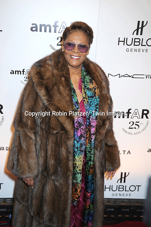 Dionne Warwick attending the amfAR New York Gala on February 9, 2011 at Cipriani Wall Street in New York City. Dame Elizabeth Taylor, President Bill Clinton and Diane von Furstenberg were honored.