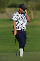 Joel Sjoholm (SWE) on the 4th green during Round 1 of the Challenge Tour Grand Final 2019 at Club de Golf Alcanada, Port d'Alcúdia, Mallorca, Spain on Thursday 7th November 2019.<br /> Picture:  Thos Caffrey / Golffile<br /> <br /> All photo usage must carry mandatory copyright credit (© Golffile | Thos Caffrey)