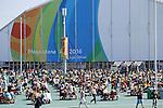 Rio Olympic Park, Olympic : AUGUST 13, 2016 - : Many fans visited the Olympic Park during the Rio 2016 Olympic Games in Rio de Janeiro, Brazil. (Photo by Yusuke Nakanishi/AFLO SPORT)
