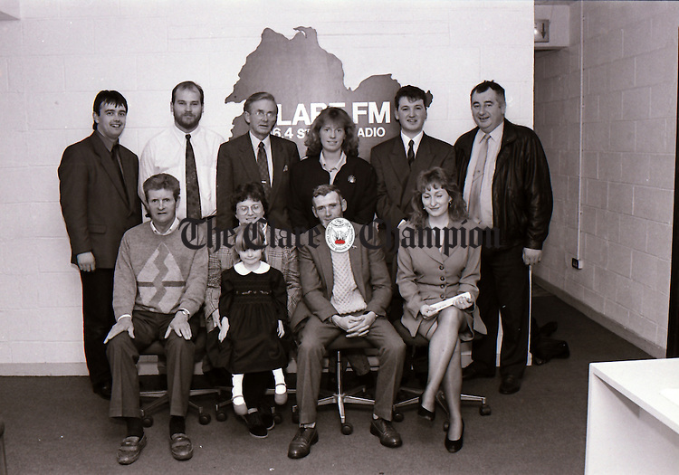 Clare FM prizewinners' presentation - November 10, 1994. Photograph by Eamon Ward