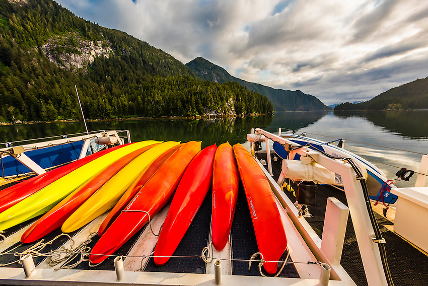Wilderness Explorer (small cruise ship), Takatz Bay, Chichagof Island, Inside Passage, Southeast Alaska USA.