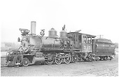 3/4 fireman's-side view of D&amp;RGW #315 in Montrose.<br /> D&amp;RGW  Montrose, CO  8/1940