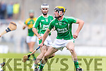 Kilmoyley in action against Eric O'Connor Ballyduff in the County Senior Hurling Final at Austin Stack Park on Sunday.