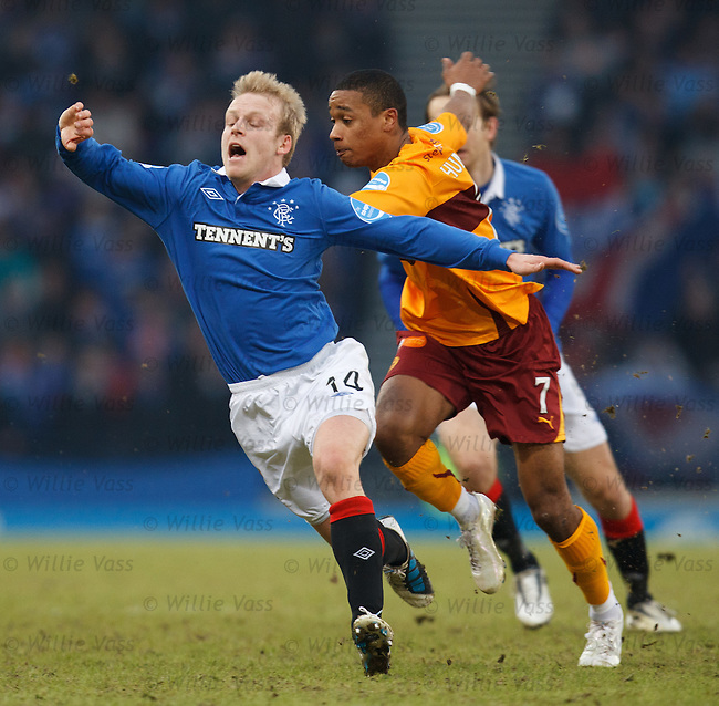 Steven Naismith given the push off by Chris Humphrey