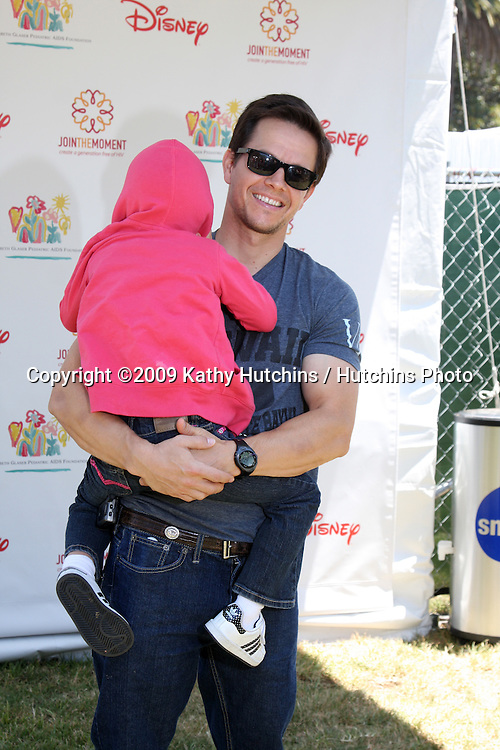 "Mark Wahlberg & son Michael arriving at the ""A Time For Heroes Celebrity Carnival"" benefiting the Elizabeth Glaser Pediatrics AIDS Foundation at the Wadsworth Theater Grounds in Westwood , CA on June 7, 2009 .©2009 Kathy Hutchins / Hutchins Photo.."