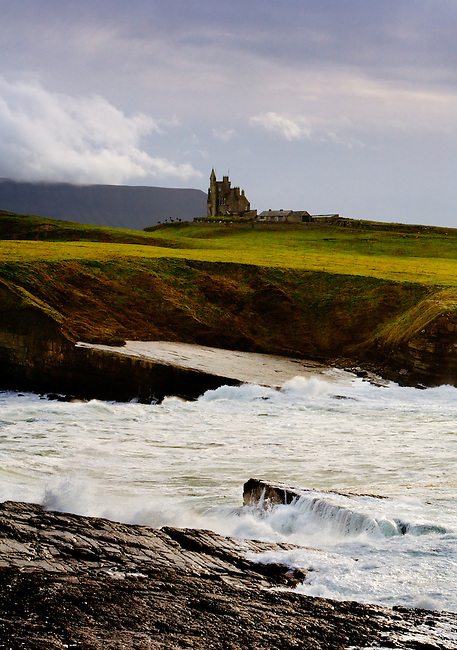 Classiebawn Castle, in County Sligo, on the west coast of Ireland and once the home of Lord Mountbatten.