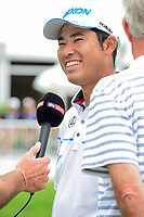 Hideki Matsuyama (JPN) is all smiles after winning the World Golf Championships - Bridgestone Invitational, at the Firestone Country Club, Akron, Ohio. 8/6/2017.<br /> Picture: Golffile | Ken Murray<br /> <br /> <br /> All photo usage must carry mandatory copyright credit (&copy; Golffile | Ken Murray)