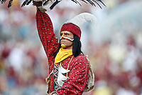 September 27, 2008,  FSU vs Colorado at Jacksonville Municipal Stadium in Jacksonville, Florida..Chier Osceola the Florida State mascot celebrates after a FSU touchdown  in the River City Showdown.      Florida State defeated Colorado 39-21.