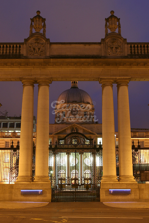 Government Buildings at night, Merrion Street, Dublin, Ireland
