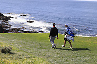 Jon Rahm (ESP) walks off the 7th tee during Sunday's Final Round of the 2018 AT&amp;T Pebble Beach Pro-Am, held on Pebble Beach Golf Course, Monterey,  California, USA. 11th February 2018.<br /> Picture: Eoin Clarke | Golffile<br /> <br /> <br /> All photos usage must carry mandatory copyright credit (&copy; Golffile | Eoin Clarke)