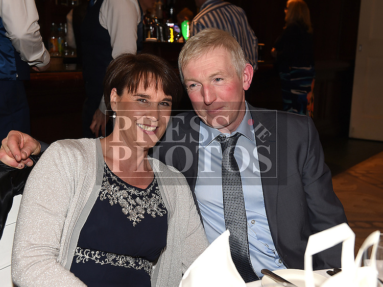 Denis and Eilish Commins at the Baile Atha Fherdia Traders Awards in the Nuremore hotel Carrickmacross. Photo:Colin Bell/pressphotos.ie