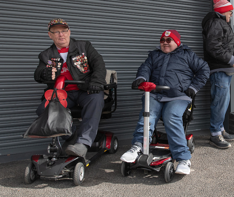 Bristol City Fans<br /> <br /> Photographer David Horton/CameraSport<br /> <br /> The EFL Sky Bet Championship - Bristol City v Leeds United - Saturday 9th March 2019 - Ashton Gate Stadium - Bristol<br /> <br /> World Copyright © 2019 CameraSport. All rights reserved. 43 Linden Ave. Countesthorpe. Leicester. England. LE8 5PG - Tel: +44 (0) 116 277 4147 - admin@camerasport.com - www.camerasport.com