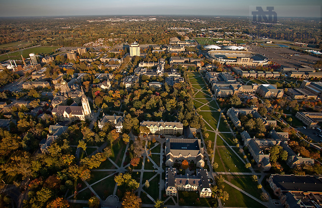 Aerial of South Quad area of campus...Photo by Matt Cashore/University of Notre Dame