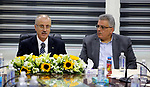 Palestinian Prime Minister, Rami Hamdallah visits the headquarters of the Water Authority, in the West Bank city of Ramallah on May 10, 2018. Photo by Prime Minister Office