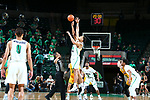 DENTON TEXAS, March 28: University of North Texas Mean Green Men's Basketball v University of San Francisco at the Super Pit in Denton on March 28, 2018.
