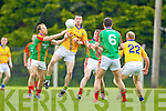 Brendan Guiney Feale Rangers in action against Darran O'Sullivan Mid Kerry in the First Round of the Kerry Senior Football Championship at O'Rahilly Park Ballylongford on Sunday.