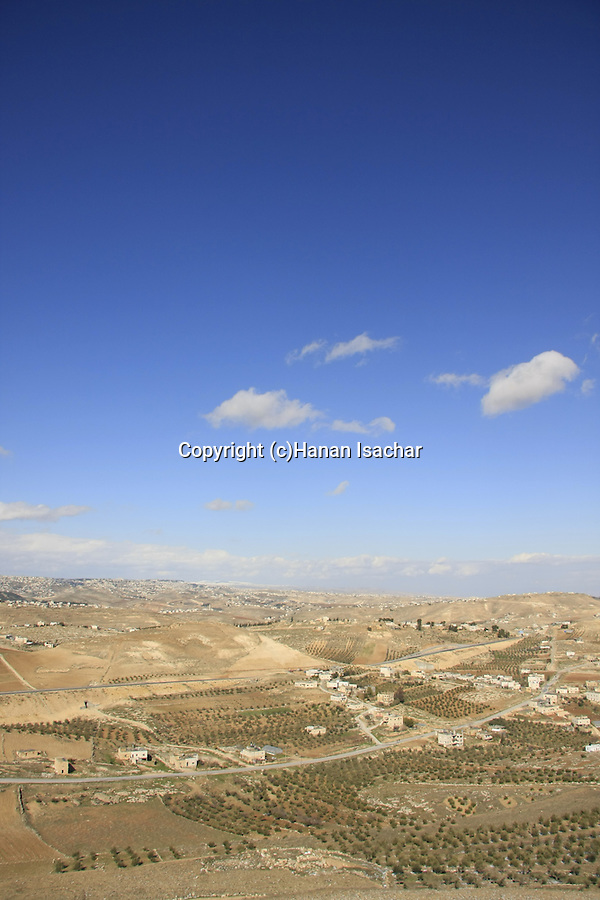 Judea, a view north from the Herodion, built by Herod in the Judean desert