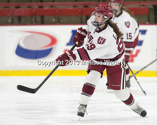 Elizabeth Parker (Harvard - 29) - The Harvard University Crimson defeated the visiting Boston University Terriers 3-1 on Friday, November 22, 2013, at Bright-Landry Hockey Center in Cambridge, Massachusetts.