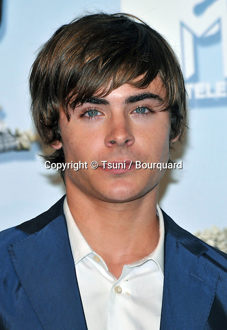 Zac Efron  - <br /> Press room at The MTV Movie Awards 2008 at the Universal Amphitheatre in Los Angeles.<br /> <br /> headshot<br /> eye contact