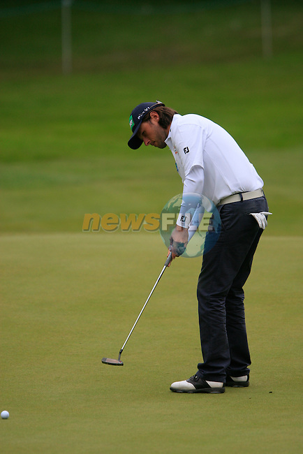 Martin Wiegele (AUT) putts on the 3rd green during Day 3 of the BMW PGA Championship Championship at, Wentworth Club, Surrey, England, 28th May 2011. (Photo Eoin Clarke/Golffile 2011)