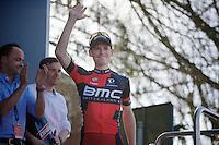 race winner Ben Hermans (BEL/BMC) to the podium<br /> <br /> 55th Brabantse Pijl 2015