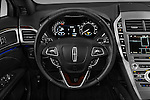 Car pictures of steering wheel view of a 2018 Lincoln MKZ Reserve 4 Door Sedan Steering Wheel