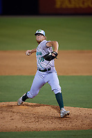 Daytona Tortugas relief pitcher John Ghyzel (18) during a Florida State League game against the Tampa Tarpons on May 18, 2019 at George M. Steinbrenner Field in Tampa, Florida.  Daytona defeated Tampa 7-6.  (Mike Janes/Four Seam Images)