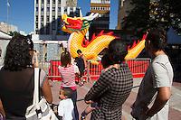 SAO PAULO, SP, 01.02.2014 -  ANO NOVO CHINES - ANO DO CAVALO - A comunidade Chinesa do bairro da Liberdade no centro de Sao Paulo dão as boas vindas ao Ano novo Chines na tarde deste sabado (01). (FOTO: Amauri Nehn / Brazil Photo Press).