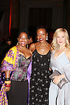 Another World's Rhonda Ross and Amy Carlson pose with fashion designer Tracy Reese who had her fashion show at The 20th Annual Hearts of Gold Gala - All That Glitters - A Black Tie Ball on October 27, 2016 at Capitale, New York City, New York.  (Photo by Sue Coflin/Max Photos)