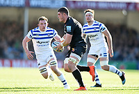 Dave Ewers of Exeter Chiefs in possession. Gallagher Premiership match, between Exeter Chiefs and Bath Rugby on March 24, 2019 at Sandy Park in Exeter, England. Photo by: Patrick Khachfe / Onside Images
