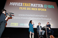 Amsterdam, 21 november 2010.International Documentary Film Festival IDFA.Screening Prosecutor, Movies That Matter.Interview with director Bruno Stevens and prosecutor Luis Moreno Ocampo..Photo by Felix Kalkman