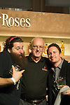 Four Roses fans hug the brand's master distiller, Jim Rutledge, at the 2011 Kentucky Bourbon Festival.