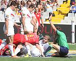 15.09.2012 Barcelona, España. Partido de la liga Francesa de rugby entre USAP de Perpiñan contra el Tolousa en el Estadio Olimpico de Montjuic