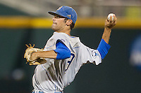 UCLA pitcher Adam Plutko (9) delivers a pitch to the plate during Game 1 of the 2013 Men's College World Series Finals against the Mississippi State Bulldogs on June 24, 2013 at TD Ameritrade Park in Omaha, Nebraska. The Bruins defeated the Bulldogs 3-1, taking a 1-0 lead in the best of 3 series. (Andrew Woolley/Four Seam Images)