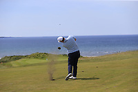 Robert Macintyre (SCO) plays his 2nd shot on the 6th hole during Thursday's Round 1 of the Dubai Duty Free Irish Open 2019, held at Lahinch Golf Club, Lahinch, Ireland. 4th July 2019.<br /> Picture: Eoin Clarke | Golffile<br /> <br /> <br /> All photos usage must carry mandatory copyright credit (© Golffile | Eoin Clarke)