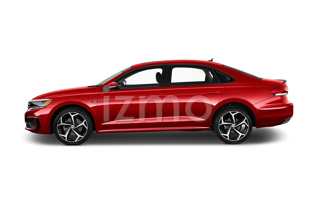 Car Driver side profile view of a 2020 Volkswagen Passat R-Line 4 Door Sedan Side View