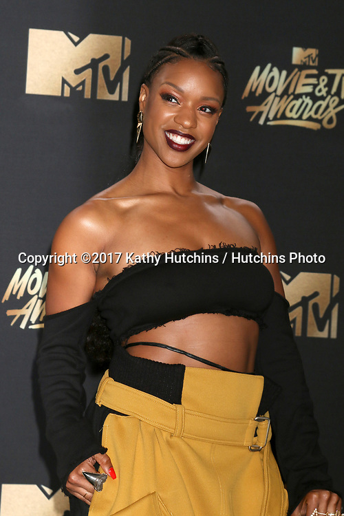 LOS ANGELES - MAY 7:  Michelle Mitchenor at the MTV Movie and Television Awards on the Shrine Auditorium on May 7, 2017 in Los Angeles, CA