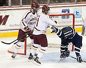 Patrick Wey (BC - 6), Pat Mullane (BC - 11), Jay Camper (UNH - 17) - The Boston College Eagles and University of New Hampshire Wildcats tied 4-4 on Sunday, February 17, 2013, at Kelley Rink in Conte Forum in Chestnut Hill, Massachusetts.