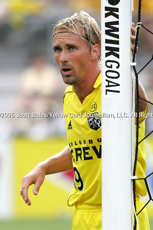 20 August 2005: Columbus's Chris Henderson. The Columbus Crew defeated FC Dallas 1-0 at Columbus Crew Stadium in Columbus, Ohio in a Major League Soccer Regular Season Match.