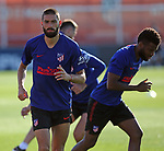 Atletico de Madrid's Yannick Carrasco (l) and Thomas Lemar during training session. May 30,2020.(ALTERPHOTOS/Atletico de Madrid/Pool)