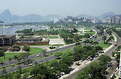 Rio de Janeiro, Brazil. Parque da Flamengo and sea front.