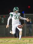 San Pedro, CA 11/27/15 - Graham Lipps (Mira Costa #33) in action during the CIF Western Division semi-final game between Mira Costa and Palos Verdes.  Palos Verdes defeated Mira Costa to advance to the Western Division finals.